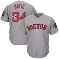 Wholesale 2016 baseball jersey Men s Majestic David Ortiz White Boston Red Sox Cool Base Jersey with Retirement Patch ortiz