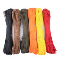 Wholesale 50 feet Dia mm one stand Cores Paracord for Survival Parachute Cord Lanyard Camping Climbing Camping Rope Hiking Clothesline