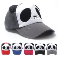animal visors - Delicate Colors Outdoor Fashion Cotton Cute Panda Baseball Caps Women Girl Sport Ski Hat Adjustable Visors for Unisex h5925