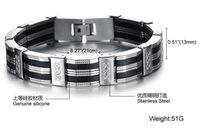 best of friends - Personality Men Bracelet Brazalet High Quality Stainless Steel Silicone Mens Bracelets Jewelry For Best Friends Wristbands