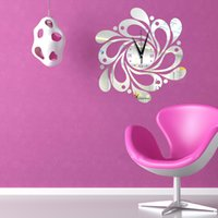 Cheap Quartz Analog Wall Clock Best Plastic Separates Mirror Wall Clocks