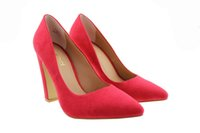 best buy women - 2017 Fashion Women Office Dress Footwear CM UK Chunky High thick heeled Wedding best buying Ladies New Pumps elegent studed Pointed shoes