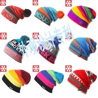 active snowboard - Hot Sale SNSUSK Snowboard Winter Ski Skating SKULLIES Hats Beanies Wool Knitted Warm For Men Women Hat Free DHL