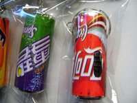 aluminum can factory - whilesale Korean jewelry factory direct gift ideas led plastic key chain with light cola cans D29