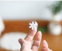 Wholesale 2 CM small round snowmen clear or transparent self adhesive sticker