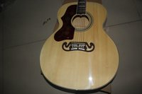 Wholesale Left Handed J200 Burlywood Spruce Top Maple Sides Back with Fishman Pickup EQ Acoustic Electric Guitar SJ200