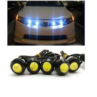 Wholesale 10pcs W LED White Eagle Eye Car Light High Power Car Daytime Running Light parking light Auto white bulb car led light mm