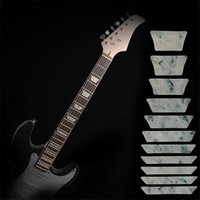 bass shapes - 10pcs Guitar Bass Fret Sticker DIY sticker on guitar neck Trapezoid shape set