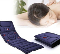 Wholesale 2016 New Hot Sale Full Body Massager Health Care Health Monitors Massage Mattress Cushion Vibration Head Body Foot Massage