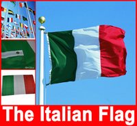 Wholesale Italy Italia flag national flag cm ft Hanging National flag Banner Indoor Outdoor Home Decor Hot Selling
