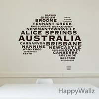 australia wallpapers - Australian Map Wall Sticker Map Of Australia Wall Decal D Modern Map Wallpaper Decorating Modern Office Decor M36