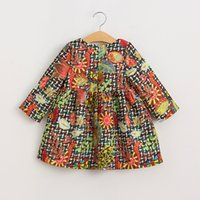 Wholesale Baby Girl Clothes Dresses Toddler Girl Clothing Autumn Casual Cotton Long Sleeve Print Brand Girls Dresses Kids Clothes CH
