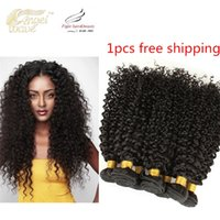 Wholesale 2016 New Angelwave Human Hair Peruvian kinky curly hair bundles virgin human hair Extensions g bundle A Grade Natural Color