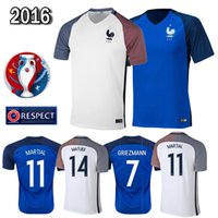 Cheap The best French soccer jersey 2016 French national team football shirts 16-17 home and away kit Big preferential Free package mail
