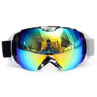 Wholesale Unisex Adults Professional Spherical Anti fog Dual Lens Snowboard Ski Goggle Eyewear