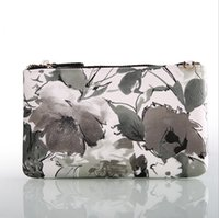 Wholesale Clutch Bag Wholesale Prices - Printing Flower Wallet Lady Purses Zipper Closure Factory Direct Price Clutches with Chains Strap Shoulder Bags P200019