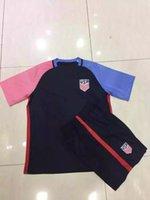 Cheap 16-17 usa home kit soccer jersey thailand quality short sleeve white polyester America nation team football shirt custom name sport uniform