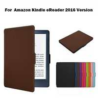 Wholesale 1pcs Fashion PU leather Book Shell Cover Slim Case for Amazon Kindle eBook Reader Version