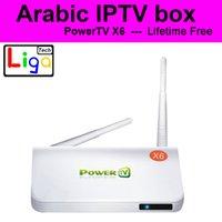 achat en gros de french-2016 Meilleur arabe IPTV Box toujours sans frais annuels, sports 500+ Arabe Français en Europe canal IPTV set top box Android TV Box