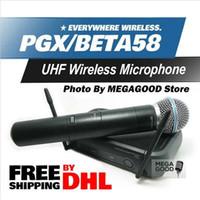 beta wireless microphone - Microfono PGX PGX24 BETA58 UHF Wireless Microphone System BETA Super Cardioid Handheld Microfone Karaoke Clear Sound FreeShipping By DHL