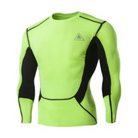 Wholesale 2017 Best Quality Men Quick Dry Waterproof Long Sleeve Slim Jersey Fitness Cycling Running Boxing Sportswear T Shirts