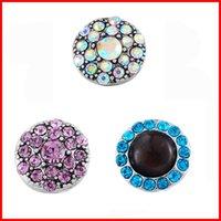 al por mayor 13 botones mm-Noosa trozos de 13 mm de cristal broches de presión del botón de ajuste collares anillos de dedo de Noosa Noosa keychians pulseras de la joyería DIY 270043