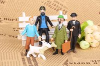 adventures of tintin - The Adventures of Tintin set cm PVC milou Snowy dog Action Figures Collectible Model Toy Dolls Baby Gifts toys figure kids opp bag