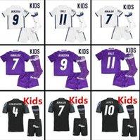 Thailand jersey soccer Baratos-Camisetas jersey de fútbol juvenil MADRID KIDS futbol de RONALDO BENZEMA BALA JAMES SERGIO RAMOS tailandés tailandia jerseys de fútbol calidad de los niños