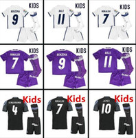 Wholesale Youth MADRID KIDS soccer jersey camisetas futbol RONALDO BENZEMA BALE JAMES SERGIO RAMOS thai thailand quality football jerseys children