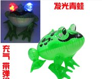 Wholesale LED inflatable kids toy inflatable animal frog outdoor baby swim pool toy x29x36cm sizes big pvc material kids toys