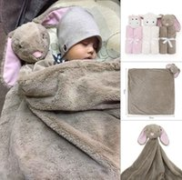 blankets - Baby Blankets x76cm Baby Winter throw Blanket Boy Girl Birthday Gift Newborn Soft Warm Coral Fleece Plush Animal Toy Head