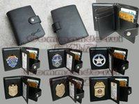 Metal antique leather purse - Commando production Multipurpose leather purse wallet collocation shop badge is more favorable