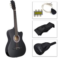 Wholesale New Beginners Acoustic Guitar With Guitar Case Strap Tuner and Pick Black