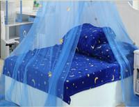 Wholesale 2016 New Hot Children Beatiful Elegant Blue Star Netting Bed Canopy Mosquito Net Sleeping x250x1000cm
