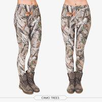 Wholesale Camo Trees d Printing Leggings for Women Brand Fashion Leggins Stretchy Casual Fitness Leggings Adventure Time
