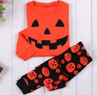 Wholesale Halloween kids Pajamas Sets baby kids sleepwear homewear nightwear pieces suits children boys girls long sleeve shirt and pants
