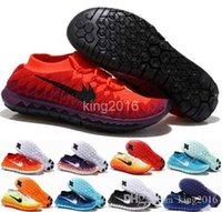 Wholesale 2016 New Free Run knits Running Shoes For Men Women Mesh Weaving Lightweight Breathable Training Sneaker Sport Shoes Eur
