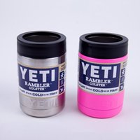Wholesale yeti Rambler coolers oz oz oz Cups YETI Rambler Tumbler Travel Vehicle Beer Mug Double Wall Bilayer Vacuum Insulated OTH242
