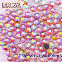 Wholesale High Quality Bright Glass SS16 Hyacinth AB Hotfix Rhinestones For Garment Accessories