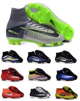 Wholesale 2016 Original Quality Mercurial Superfly FG Mens Football Shoes Cleats Magista Obra Outdoor Hypervenom Soccer Shoes Boot