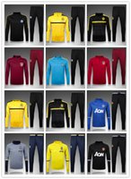 Wholesale 16 madrid training suit city tracksuits Aguero tight pants Ronney sportswear F TORRES SOCCER tracksuit