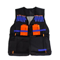 Wholesale Nerf Tactical Vest Jacket Waistcoat Magazine Ammo Holder for N Strike Elite Pistol Foam Bullets Toy Guns Clip Nerf Darts Kit