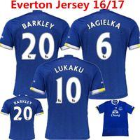 Camisas Everton Jersey de fútbol 2016 2017 Lukaku Osman Kone Mirallas Barkley Coleman Inicio Azul Fútbol Camisas Premier Tailandia Calidad