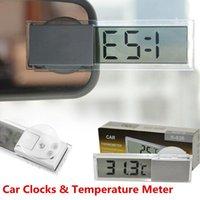 Wholesale Mini Car Auto Vehicle Monitor Home LCD Digital Display Room Clock Portable Small