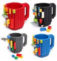 Bebida Tazas Creación creativa en la taza del ladrillo Taza de los ladrillos de DIY Pixelblocks Copas compatibles del bloque del KREO K'NEX de Mega