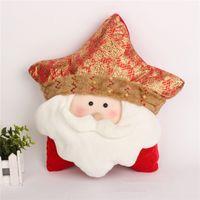 best friend christmas gifts - 2016 original Christmas decoration pillow high quality cloth bolster star shaped cushion best Christmas gifts for friend