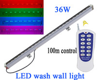 Wholesale 36W Linear Bar Led Floodlight v waterproof ip65 Remote control Led Wall washer Outdoor Led Tube lamp