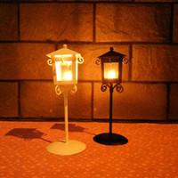 Wholesale Retro house holder streetlight holder retro typhoon Candlestick aromatherapy creative student gift