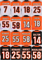 bengals rugby jersey - 2016 Cincinnati football jersey Bengals Soccer rugby jerseys Green Eifert Dalton Black Orange White freeshipping