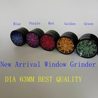 aluminium window - 100 Original Herb Grinders mm Aluminium Alloy Grinders With Clear Top Window Lighting Grinder Metal Grinder